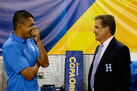 Harrison, NJ - Friday July 07, 2017: Amado Guevara, Jorge Luis Pinto during a 2017 CONCACAF Gold Cup Group A match between the men's national teams of Honduras (HON) vs Costa Rica (CRC) at Red Bull Arena.