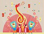 Illustrative image of people celebrating Chinese New Year