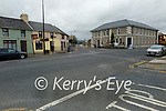 Picture of junction of Main Street and College Road where locals are concerned about proposed traffic calming measures