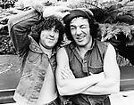 AC/DC 1983 Simon Wright and Brian Johnson.© Chris Walter.