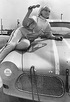 Diana Carter, Canada's leading woman sports car racing driver. She sees growing interest in sport among girls although expenses are high.