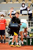 9th October 2020, Roland Garros, Paris, France; French Open tennis, Roland Garr2020;   Diego Schwartzman arg