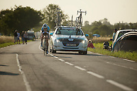 Tony Martin (DEU) was one of the few riders out early on the morning of the TT (2 hrs before the first rider was out) to do a proper recon. <br /> <br /> Tour de France 2013<br /> stage 11: iTT Avranches - Mont Saint-Michel <br /> 33km