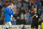 St Johnstone v FC Minsk...08.08.13 Europa League Qualifier<br /> Dave Mackay reacts after missing his penalty<br /> Picture by Graeme Hart.<br /> Copyright Perthshire Picture Agency<br /> Tel: 01738 623350  Mobile: 07990 594431