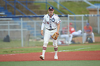 High Point-Thomasville HiToms third baseman Zach Gelof (26) (UVA) warms up prior to the game against the Old North State League West All-Stars at Hooker Field on July 11, 2020 in Martinsville, VA. The HiToms defeated the Old North State League West All-Stars 12-10. (Brian Westerholt/Four Seam Images)