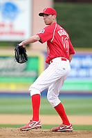 Reading Phillies pitcher Chris Kissock #10 during practice before a game against the New Hampshire Fisher Cats at FirstEnergy Stadium on April 10, 2012 in Reading, Pennsylvania.  New Hampshire defeated Reading 3-2.  (Mike Janes/Four Seam Images)