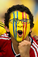 Columbia fan with face paint
