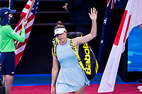 20th February 2021, Melbourne, Victoria, Australia; Jennifer Brady of the United States of America walks onto court to commence her match during the Women's Singles Final of the 2021 Australian Open on February 20 2021, at Melbourne Park in Melbourne, Australia.