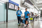 Teams arrive to the Hong Kong International Airport ahead of the HKFC Citibank Soccer Sevens 2015 on May 27 2015 in Hong Kong, China. Photo by Xaume Olleros /  Power Sport Images