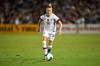 PASADENA, CALIFORNIA - August 03: Emily Sonnett #14 during their international friendly and the USWNT Victory Tour match between Ireland and the United States at the Rose Bowl on August 03, 2019 in Pasadena, CA.