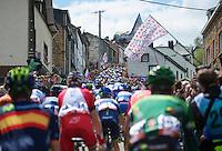 (little different take of a) classic shot of peloton up the Côte de Saint-Roche<br /> <br /> Liège-Bastogne-Liège 2014
