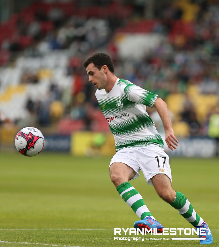 Joel Coustrain of Shamrock Rovers during the UEFA Europa League First Qualifying Round First Leg between Shamrock Rovers and AIK on Thursday 12th July 2018 at Tallaght Stadium, Dublin. Photo By Michael P Ryan