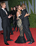 Gabriel Aubry,Halle Berry say hello to Valentino at The 2009 Vanity Fair Oscar Party held at The Sunset Tower Hotel in West Hollywood, California on February 22,2009                                                                                      Copyright 2009 RockinExposures / NYDN
