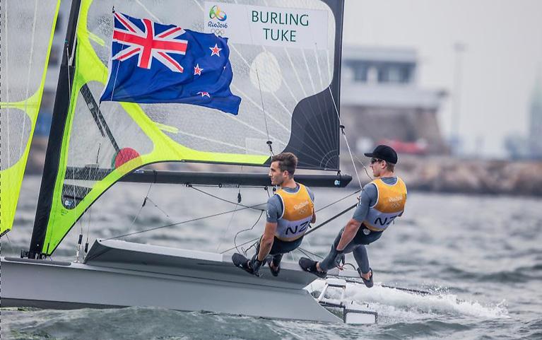 New Zealand's Burling and Tuke start as 49er favourites in Tokyo