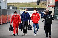 2nd September 2021: Circuit Zandvoort,  Zandvoort, Netherlands;   LECLERC Charles mco, Scuderia Ferrari SF21 arrives for the Formula 1 Heineken Dutch Grand Prix 2021, 13th round of the 2021 FIA Formula One World Championship