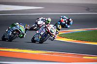 VALENCIA, SPAIN - NOVEMBER 8: Xavier Simeon, Robin Mulhauser during Valencia MotoGP 2015 at Ricardo Tormo Circuit on November 8, 2015 in Valencia, Spain