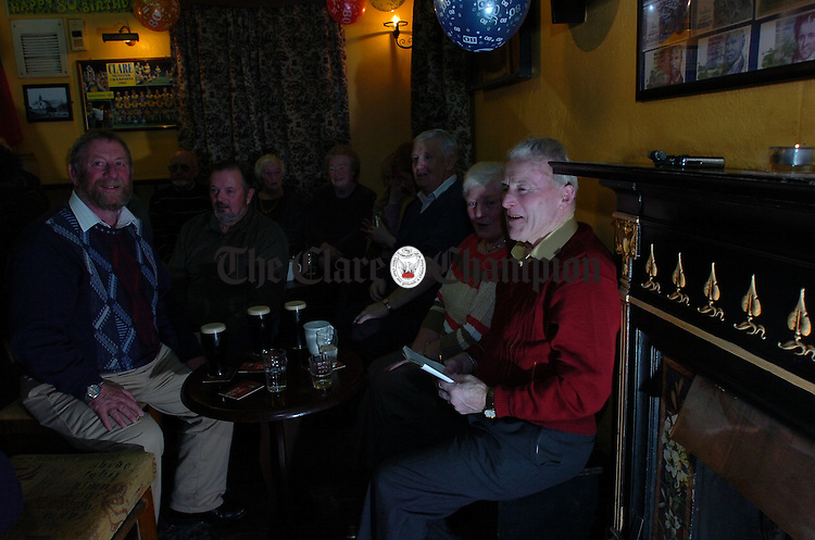 Robbie McMahon, 80th Birthday celebration Duggans Bar Spancilhill