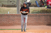 Austin Beck (23) of the North Davidson Knights gets ready to step up to the plate during the game against the Alexander Central Cougars at Bob Gryder Stadium on March 25, 2017 in Taylorsville, North Carolina.  The Knights defeated the Cougars 3-0.  (Brian Westerholt/Four Seam Images)