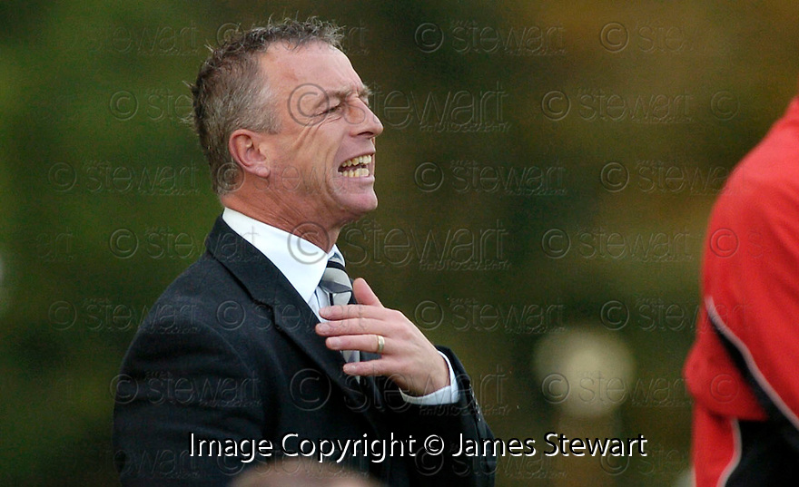 21/10/2006       Copyright Pic: James Stewart.File Name :sct_jspa25_gretna_v_clyde.GRETNA BOSS ROWAN ALEXANDER WATCHES HIS SIDE AGAINST CLYDE......Payments to :.James Stewart Photo Agency 19 Carronlea Drive, Falkirk. FK2 8DN      Vat Reg No. 607 6932 25.Office     : +44 (0)1324 570906     .Mobile   : +44 (0)7721 416997.Fax         : +44 (0)1324 570906.E-mail  :  jim@jspa.co.uk.If you require further information then contact Jim Stewart on any of the numbers above.........