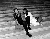 Montreal (QC) CANADA, FILE PHOTO - Leonard Cohen and hazel Field, Photographer at the Montreal World Film Festival