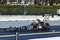 Feb 8, 2015; Pomona, CA, USA; NHRA top fuel driver Larry Dixon during the Winternationals at Auto Club Raceway at Pomona. Mandatory Credit: Mark J. Rebilas-