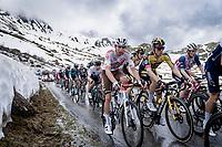 Steven Kruijswijk (NED/Jumbo-Visma) up the snowy Cormet de Roselend (2cat/1968m/5.7km@6.5%)<br /> <br /> 73rd Critérium du Dauphiné 2021 (2.UWT)<br /> Stage 7 from Saint-Martin-le-Vinoux to La Plagne (171km)<br /> <br /> ©kramon