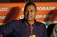 CALI -COLOMBIA-15-08-2016. Hernan Torres técnico de América Cali gesticula durante partido con Bogotá FC por la fecha 7 vuelta del Torneo Águila 2016 jugado en el estadio Pascual Guerrero de la ciudad de Cali. / Hernan Torres coach of America de Cali gestures during match against Bogota FC for the date 7 second leg match of the Aguila Tournament 2016 played at Pascual Guerrero stadium in Cali. Photo: VizzorImage/ NR /
