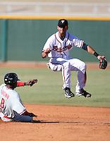 Brandon Hicks - Peoria Saguaros, 2009 Arizona Fall League.Photo by:  Bill Mitchell/Four Seam Images..