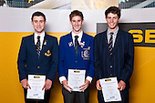 Boys Cycling finalists Hamish Elley-Brown, Scott Mullaly & Sam Lindsay. ASB College Sport Auckland Secondary School Young Sports Person of the Year Awards held at Eden Park on Thursday 12th of September 2009.