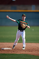 Jack Hodges during the Under Armour All-America Pre-Season Tournament, powered by Baseball Factory, on January 19, 2019 at Sloan Park in Mesa, Arizona.  Jack Hodges is a second baseman / third baseman from Fleming Island, Florida who attends St Johns Country Day School.  (Mike Janes/Four Seam Images)
