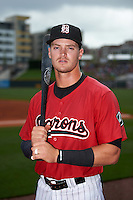 Birmingham Barons designated hitter Adam Engel (7) poses for a photo before a game against the Pensacola Blue Wahoos on May 2, 2016 at Regions Field in Birmingham, Alabama.  Pensacola defeated Birmingham 6-3.  (Mike Janes/Four Seam Images)