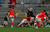 12 December 2020; Nick McCarthy sees up a high ball during the A series inter-pros series 20-21 between Ulster A and Munster A at Kingspan Stadium, Ravenhill Park, Belfast, Northern Ireland. Photo by John Dickson/Dicksondigital
