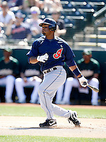 Josh Barfield  -  Cleveland Indians - 2009 spring training.Photo by:  Bill Mitchell/Four Seam Images