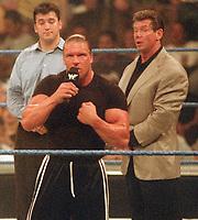 Triple H Shane McMahon Vince McMahon 2000                                                                Photo by  John Barrett/PHOTOlink