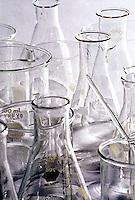 Chemistry lab pyrex glassware<br />