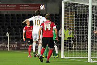Pictured: Danny Graham of Swansea scoring. Tuesday 28 August 2012<br /> Re: Capital One Cup game, Swansea City FC v Barnsley at the Liberty Stadium, south Wales.