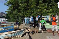 Fischer am Hafen, Mindelo, Sao Vicente, Kapverden, Afrika
