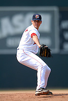 LHP Tommy Hottovoy (#19) of the Portland Sea Dogs in action vs. the New Britain Rock Cats at Hadlock Field in Portland, Maine on May 31, 2010 (Photo by Ken Babbitt/Four Seam Images)