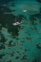 France/DOM/Martinique/env Le Francois: Fonds Blancs de sable coralien et barrière de corail-vue aérienne