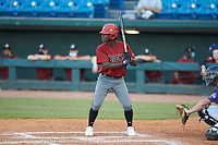 D.M. Jefferson (6) of St. John's College HS in Bethesda, MD playing for the Arizona Diamondbacks scout team during the East Coast Pro Showcase at the Hoover Met Complex on August 3, 2020 in Hoover, AL. (Brian Westerholt/Four Seam Images)