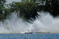 """Frame 1: Kevin Kreitzer, A-64 """"Blue Devil"""" hooks in turn 2 and blows some decking off the boat. (2.5 MOD class hydroplane(s)"""
