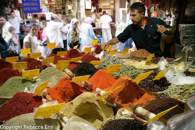Spices for sale, Eminonu, Istanbul, Turkey