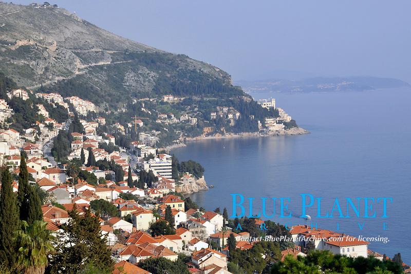 Coastal suburb of Dubrovnik, Croatia, Adriatic Sea