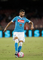 Calcio, Serie A: Napoli vs Juventus. Napoli, stadio San Paolo, 26 settembre 2015. <br /> Napoli's Elseid Hysaj in action during the Italian Serie A football match between Napoli and Juventus at Naple's San Paolo stadium, 26 September 2015.<br /> UPDATE IMAGES PRESS/Isabella Bonotto
