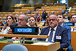 General Assembly Seventy-fourth session, 7th plenary meeting<br /> <br /> <br /> His Excellency Milo Ðukanovic, President, Montenegro