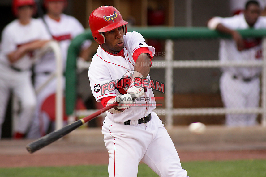 August 5, 2009:  Justin Bass of the Orem Owlz, Rookie Class-A affiliate of the Los Angeles Angels of Anaheim, during a game at the Orem Owlz Ballpark in Orem, UT. Photo by: Matthew Sauk/Four Seam Images