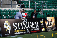 Photo: Richard Lane/Richard Lane Photography. London Wasps Sprint clinic at Twickenham Stadium with media ahead if the Stinger, London Wasps v Gloucester on 19th April 2014. 13/04/2014.
