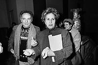 - l'anarchico Pietro Valpreda e la scrittrice e giornalista Camilla Cederna, Milano, 1980....- the anarchist Pietro Valpreda and the writer and journalist Camilla Cederna, Milan, 1980