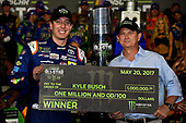 Monster Energy NASCAR Cup Series<br /> Monster Energy NASCAR All-Star Race<br /> Charlotte Motor Speedway, Concord, NC USA<br /> Saturday 20 May 2017<br /> Kyle Busch, Joe Gibbs Racing, M&M's Caramel Toyota Camry wins.<br /> World Copyright: Rusty Jarrett<br /> LAT Images<br /> ref: Digital Image 17CLT1rj_4276