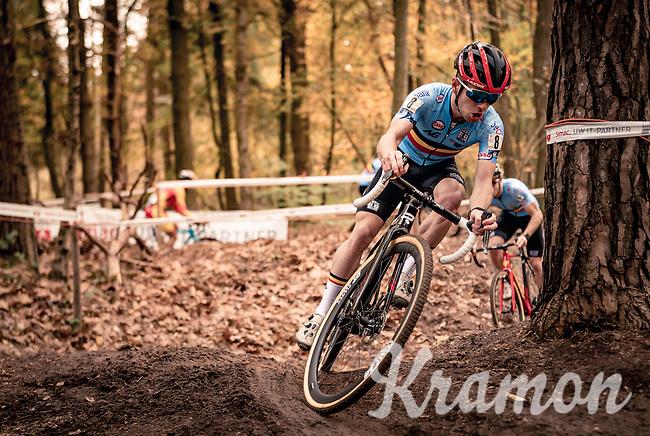 Eli Iserbyt (BEL/Pauwels Sauzen-Bingoal) on his way to becoming European Champion<br /> <br /> UEC Cyclocross European Championships 2020 - 's-Hertogenbosch (NED)<br /> <br /> Elite MEN<br /> <br /> ©kramon